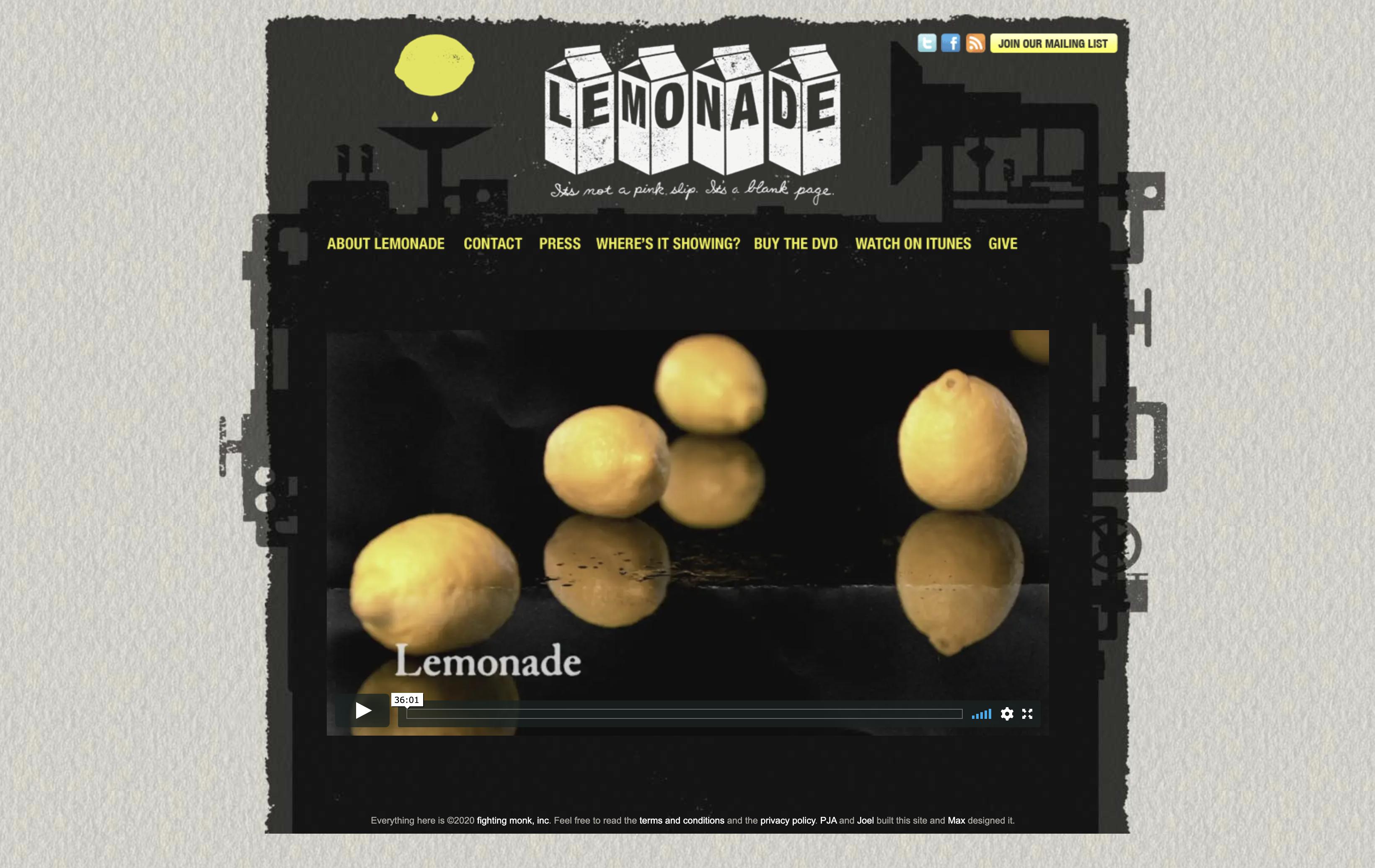 Lemonade – It's not a pink slip, It's a blank page